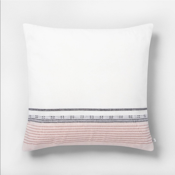Hearth & Hand Other - Hearth & Hand Ombré Stripe Throw Pillow Rose Cream